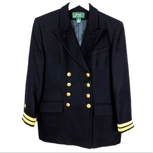 Ralph Lauren | Navy Wool Nautical Blazer Jacket